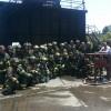 Segunda Compañía del CBVM y Novena Compañía de Ñuñoa participaron en Academia Práctica de Incendios Estructurales