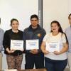 Oficiales Generales entregan premios a Trabajadores del Año en tres secciones de la institución