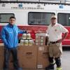 Cuerpo de Bomberos de Viña del Mar recibe vital donación para alimentación e hidratación de Fuerza Conjunta