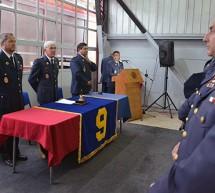 Novena Compañía celebra su 5° aniversario en Sesión presidida por su Director, acompañado por el Superintendente y Oficiales Generales