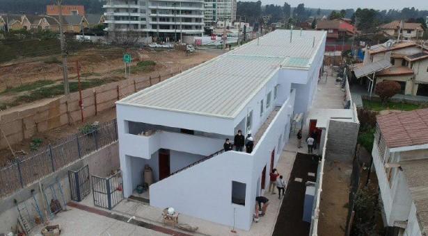 Superintendente del Cuerpo de Bomberos de Viña del Mar visita dependencias de nuevo Cuartel Octava Compañía que ya culmina su etapa de construcción