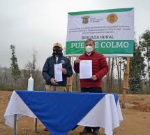 Cuerpo de Bomberos de Viña del Mar recibe usufructo de terreno para instalación de Brigada Rural Puente Colmo